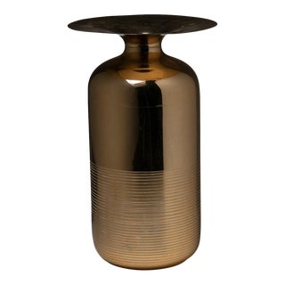 Italian 70s Brass Vase For Sale