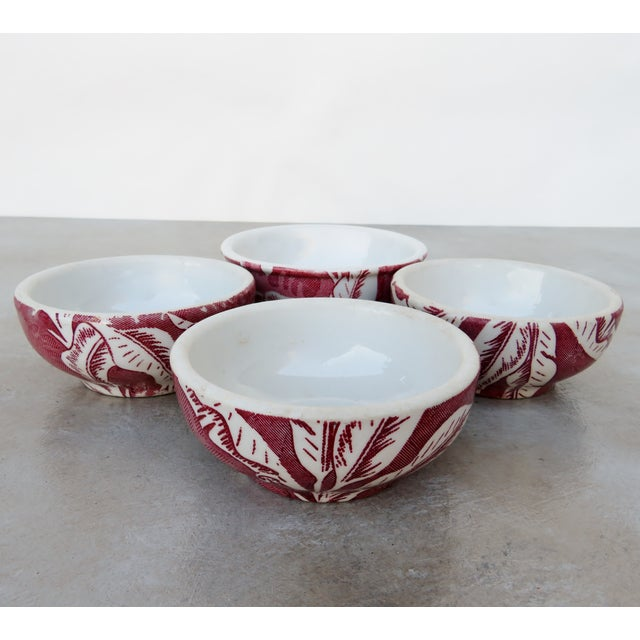 Vintage Tepco Maroon and White Dinnerware - Set of 21 For Sale - Image 4 of 7