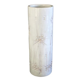 Bitossi for Raymor Incised White Vase For Sale