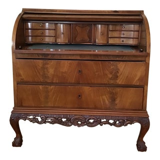 20th Century Traditional Mahogany Cylinder Desk For Sale