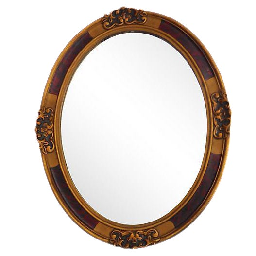 French Oval Mirror - Image 1 of 3