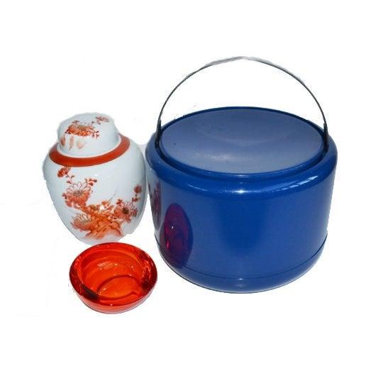 Blue Vintage Danish Modern Cobalt Blue Ice Bucket For Sale - Image 8 of 9