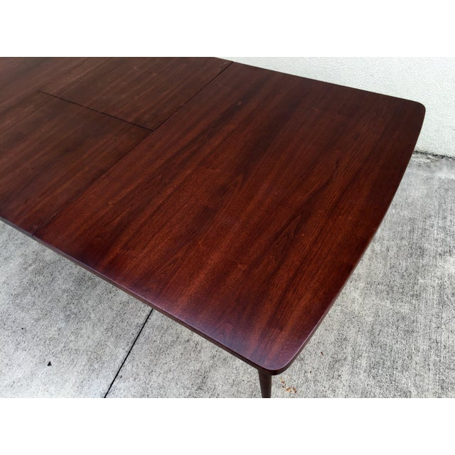 Mid-Century Expandable Walnut Dining Table - Image 9 of 11