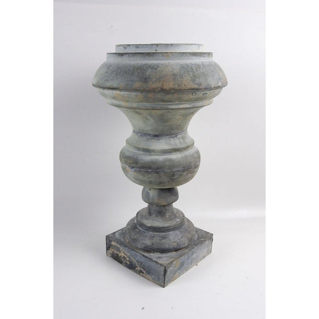 Gothic Antique Zinc Architectural Baluster Urn For Sale - Image 3 of 6