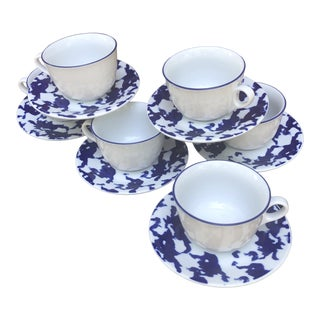 Paola Navone Giniori Cups and Saucer - Service for 6 For Sale