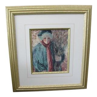 'Dark Eyes' Print by Barbara A. Wood For Sale