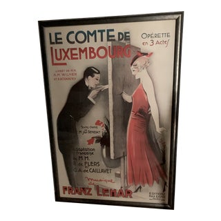 French Operetta Lithograph For Sale