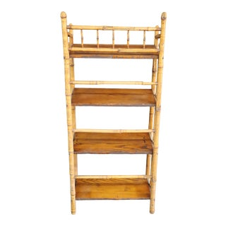 MCM Bamboo & Pine Etagere For Sale
