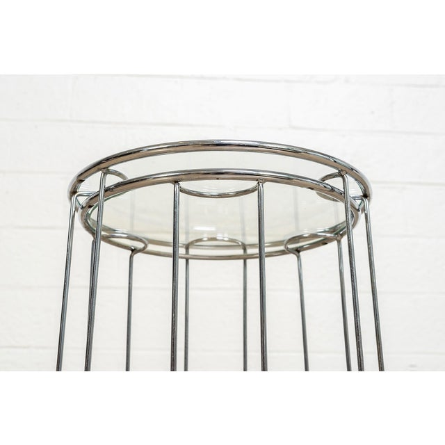 Mid Century Baughman Style Chrome & Glass Nesting Side Tables For Sale - Image 10 of 11