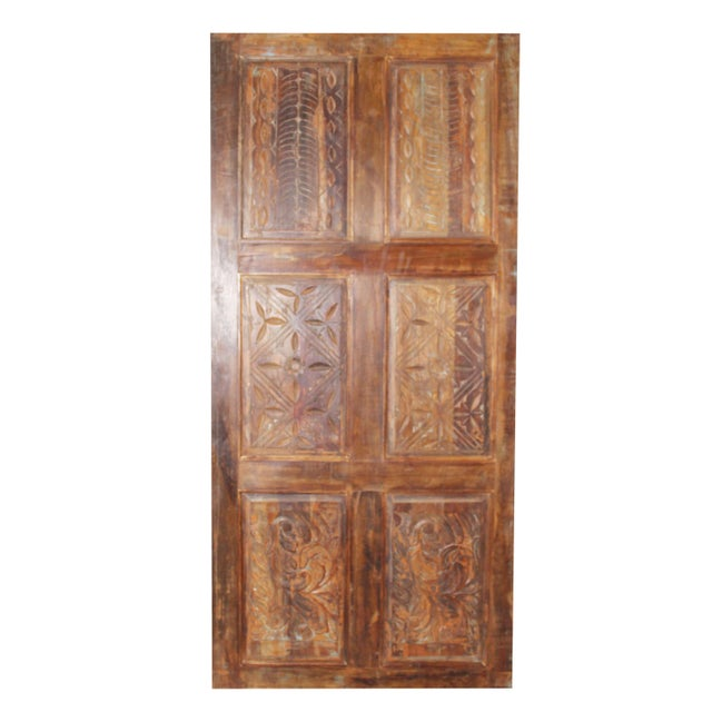 19th Century 19th Century Antique Carved Door For Sale - Image 5 of 5