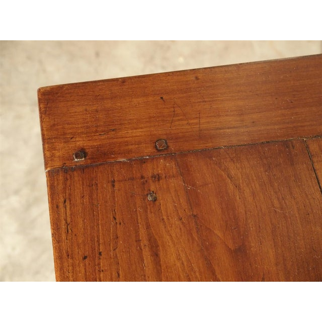 Antique Cherry and Walnut Wood Side Table, 18th Century For Sale - Image 11 of 12