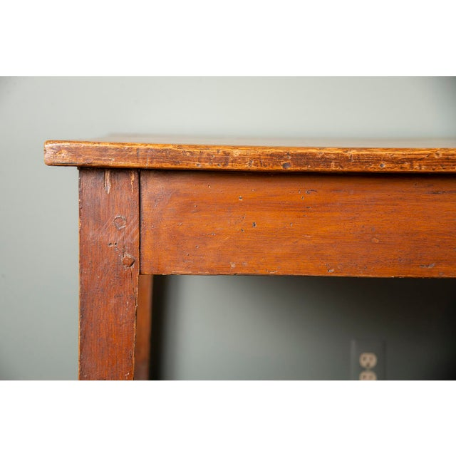 19th Century French Pine Drapers Table With Original Finish For Sale - Image 4 of 13