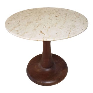 Mid-Century Modern Danish Marble Top Nanna Ditzel Side Table For Sale
