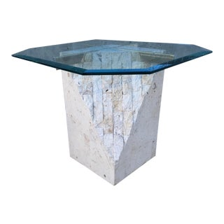 Art Deco Maitland-Smith Style Tessellated Stone Side / End Table For Sale