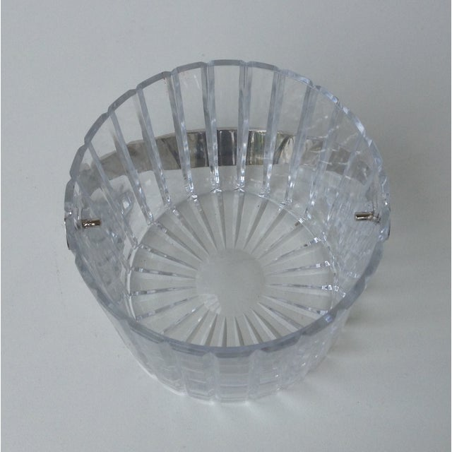 Crystal Faceted Ice Bucket With Chrome Handle - Image 5 of 11