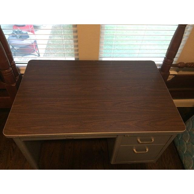 Vintage Blue McDowell & Craig Tanker Desk - Image 6 of 6