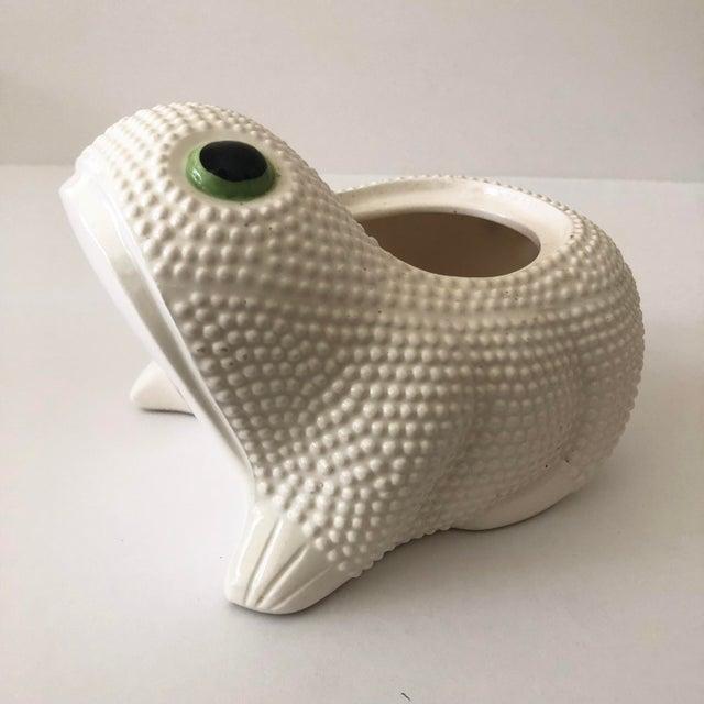 Boho Chic Vintage Ceramic Frog Planter For Sale - Image 3 of 11