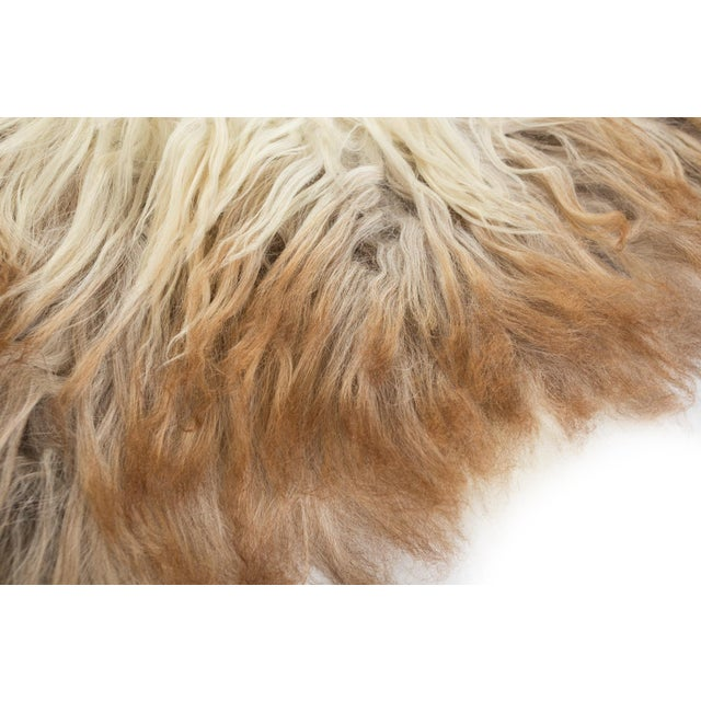 """Contemporary Contemporary Natural Wool Sheepskin Pelt Rug - 2'2""""x3'4"""" For Sale - Image 3 of 7"""
