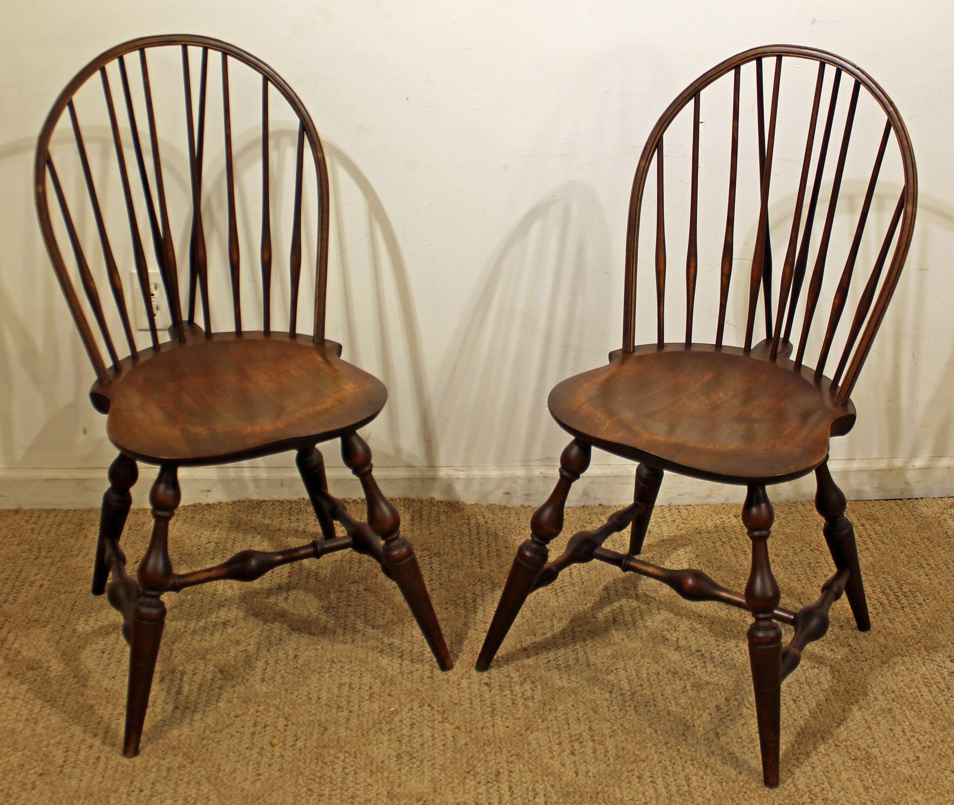 Pair Of Hoop Brace Back Windsor Dining/Side Chairs For Sale   Image 11