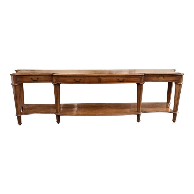 Spectacular Huge Georgian Style Walnut Console or Sofa Table For Sale