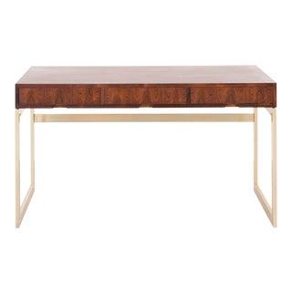 Milo Baughman Rosewood + Brass Desk
