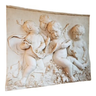 Rococo Relief in Cast Resin For Sale