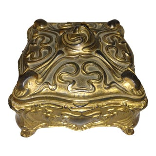 Antique Art Nouveau Jennings Brothers Jewelry Casket For Sale