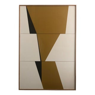 "Original Acrylic Painting ""Khaki Formation Triptych Jet0592"" For Sale"