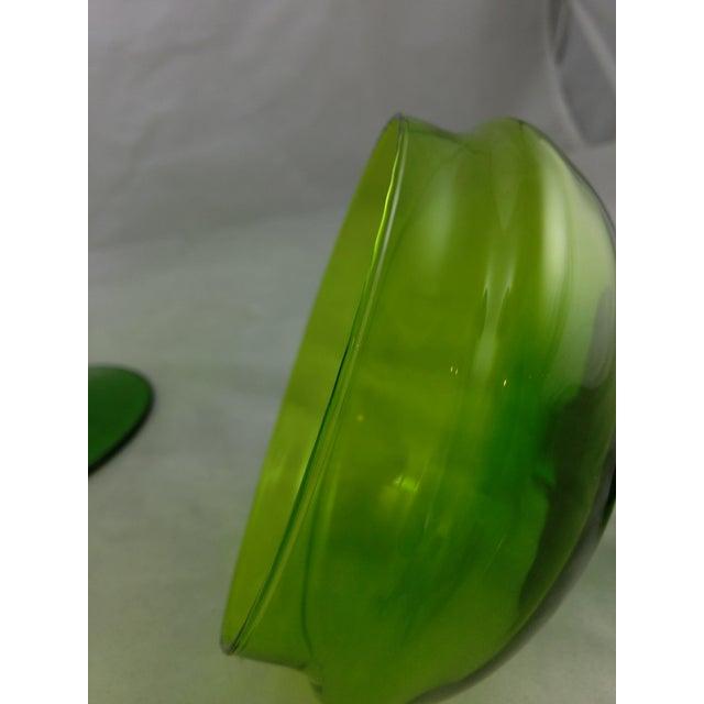 Empoli Italian Art Glass Apothecary Candy Jar - Image 5 of 11