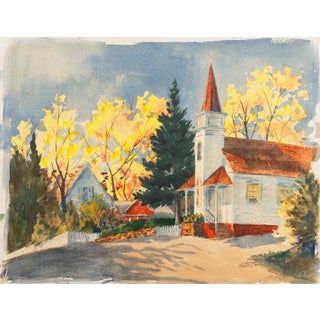 'Fall Landscape' by Dorothy Garrett, Suffolk Woman Artist, London, Paris, Norfolk Art Circle For Sale
