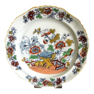 Early 20th Century William Adams & Sons Polychrome Flow Blue Platter For Sale