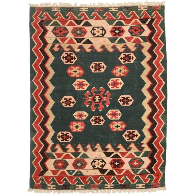 Vintage Turkish Kilim Area Rug - 8' x 11' - Image 1 of 2