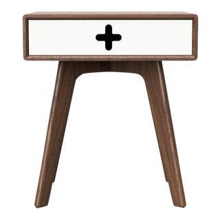 Mid-Century Modern Style Solid Walnut Nightstand