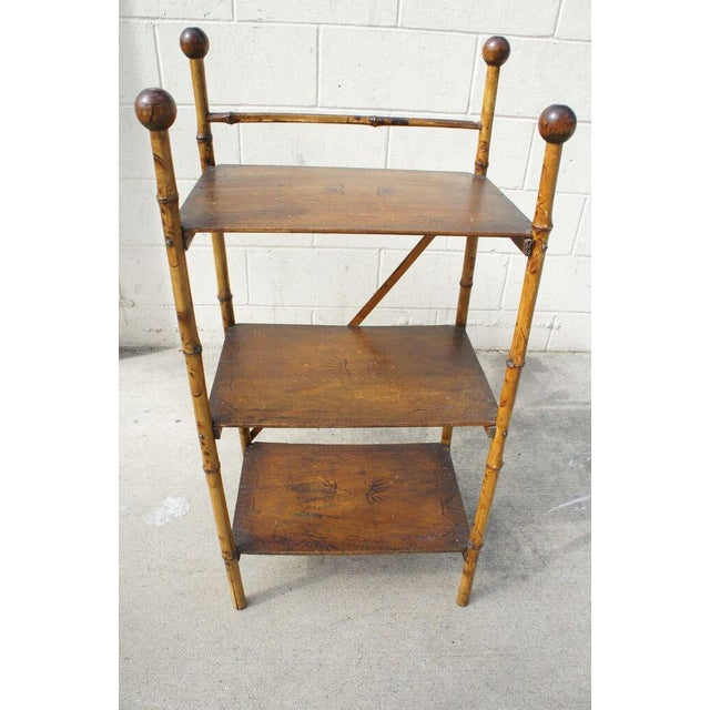 Asian Bamboo Etagere Shelf For Sale - Image 3 of 7