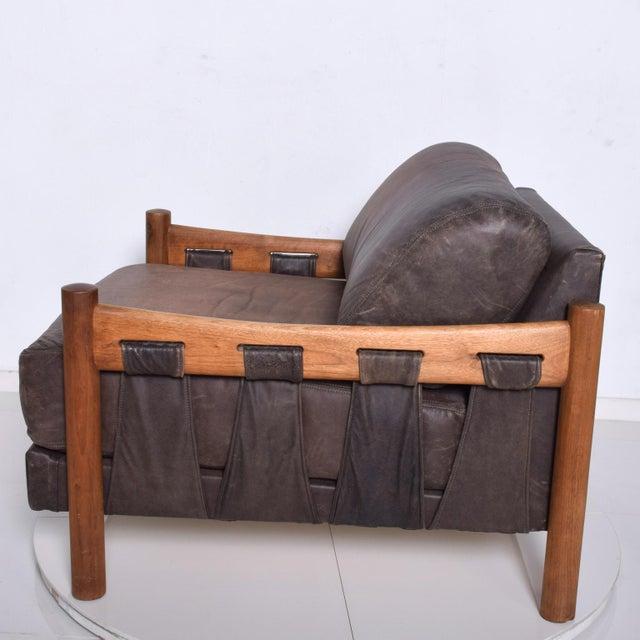 Mid-Century Modern Mid Century Modern Craft Associates Brazilian Leather Lounge Safari Chair For Sale - Image 3 of 11
