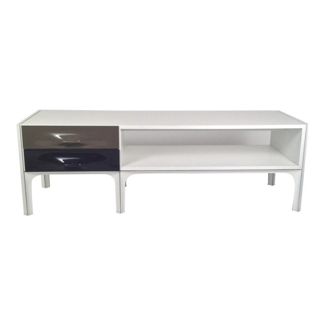Mid Century Modern Raymond Loewy Low Two Sided Cabinet / Coffee Table - Image 1 of 8