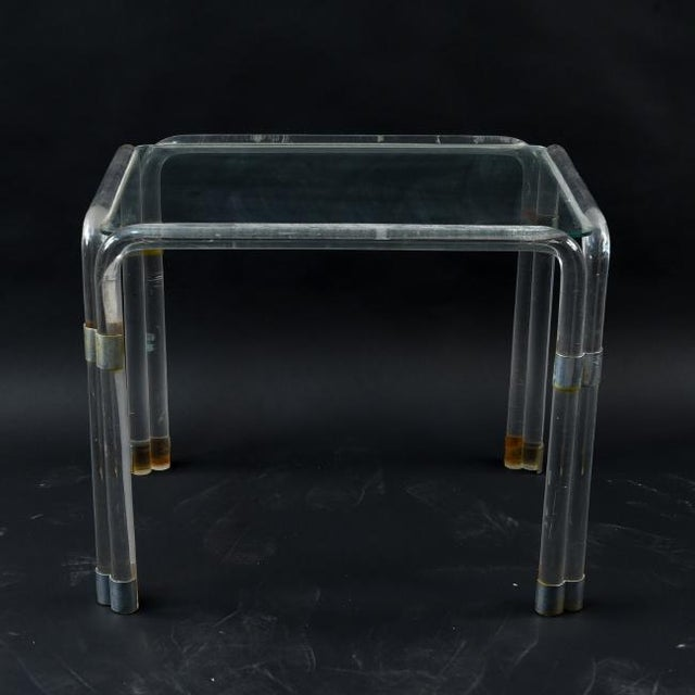 Lucite Side Table Attributed to Charles Hollis Jones For Sale - Image 10 of 10