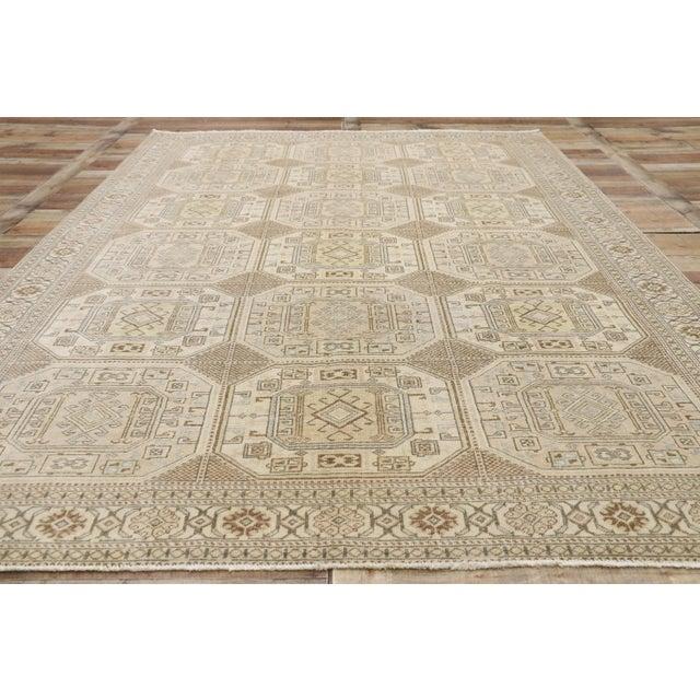 Textile Distressed Vintage Turkish Sivas Rug - 6′7″ × 9′9″ For Sale - Image 7 of 10