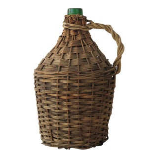 Vintage Demijohn in Wicker Holder