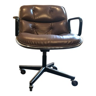 Vintage Knoll/Pollock Brown Leather Executive Chair