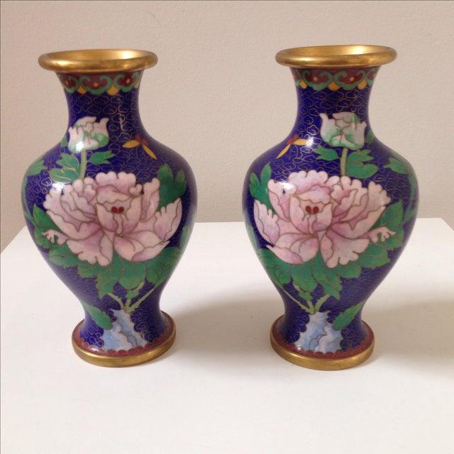 Cloisonné Vases - A Pair - Image 2 of 8
