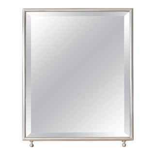 Small Rectangular Nickel-Plated Vanity Dressing Mirror For Sale