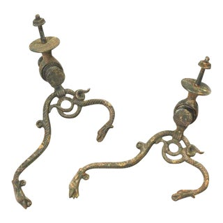 Late 19th Century Serpent Hallway Hooks - a Pair For Sale