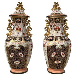 Early 19th Century Antique English Vases - A Pair For Sale