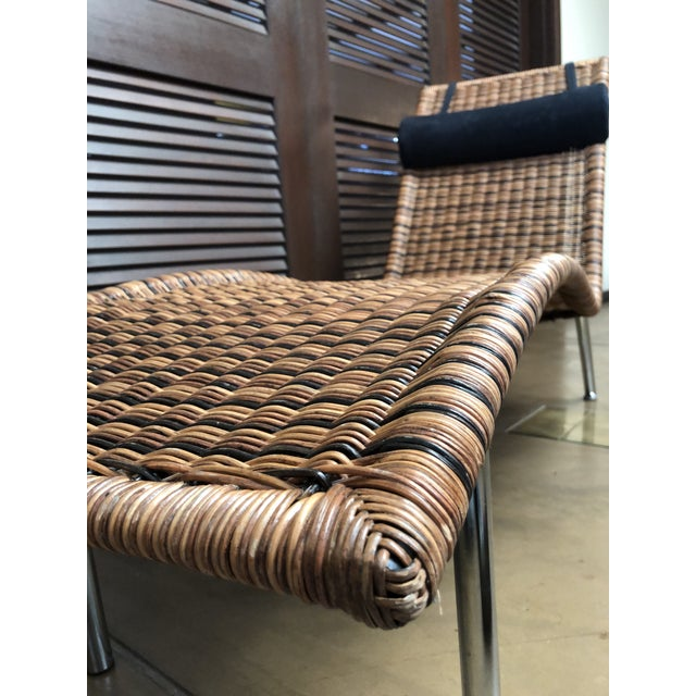 Late 20th Century Interior Wicker Chaise Lounge For Sale - Image 5 of 11