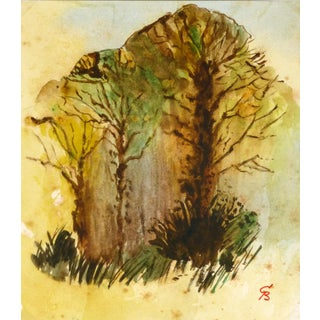 """""""Spring Woodland"""" Watercolor Painting For Sale"""