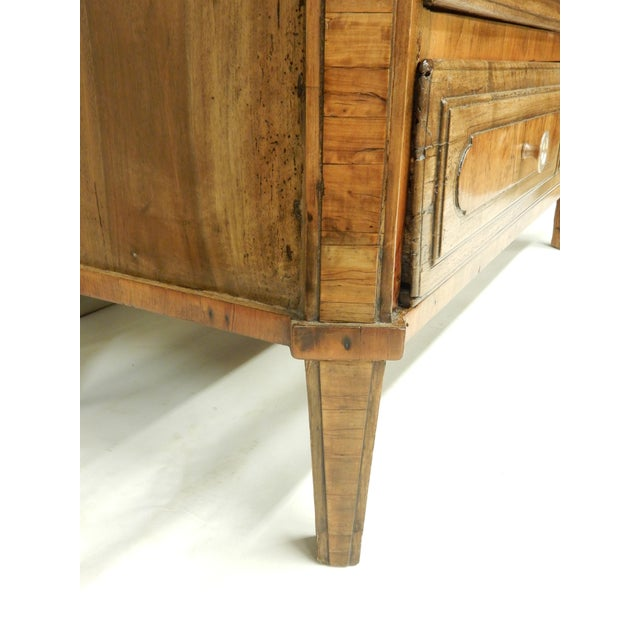 Early Italian Genoese Walnut and Olivewood 19th c.commode For Sale - Image 4 of 8