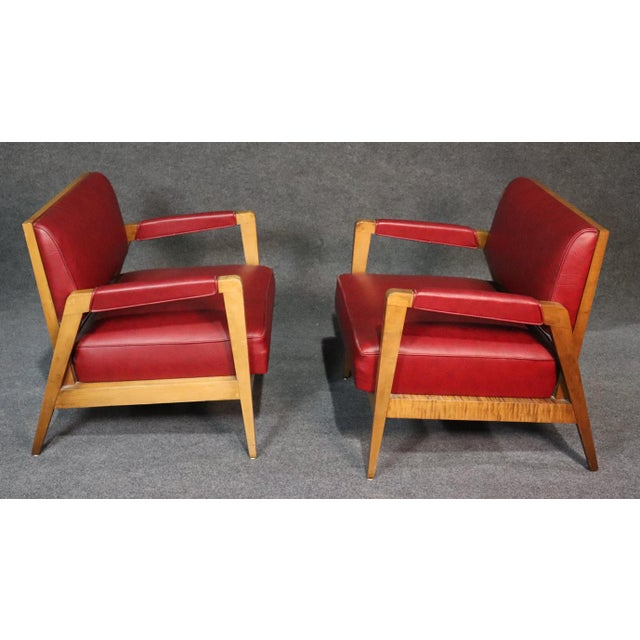 Mid-Century Modern Tiger Maple Lounge Chairs - a Pair For Sale In Philadelphia - Image 6 of 10