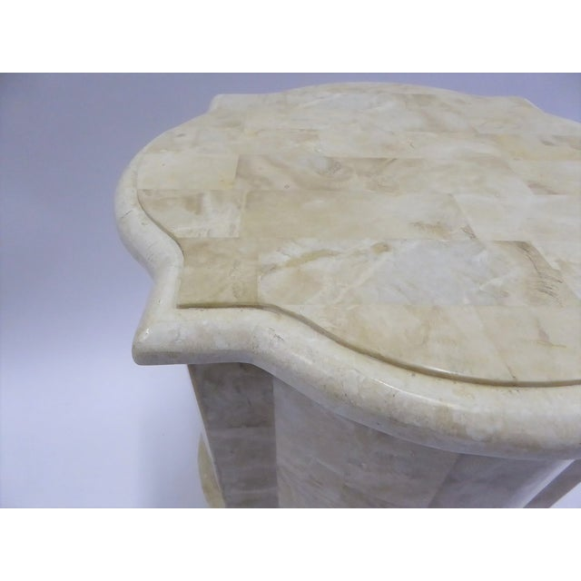 Tesselated Fossil Stone Nightstand End Table from Marquis Collection of Beverly Hills For Sale - Image 9 of 11