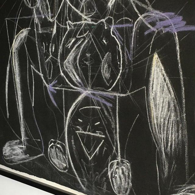 1980s James C. Harrison Bringing Up Demons Framed Drawing For Sale - Image 5 of 7